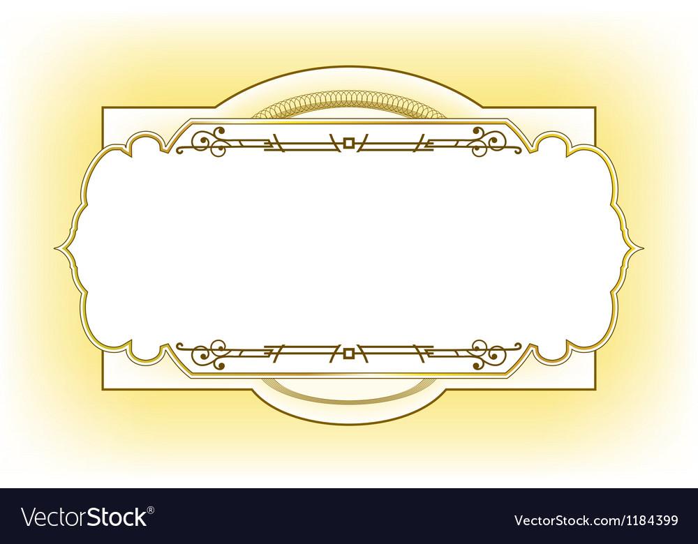 Vintage frame design for post card