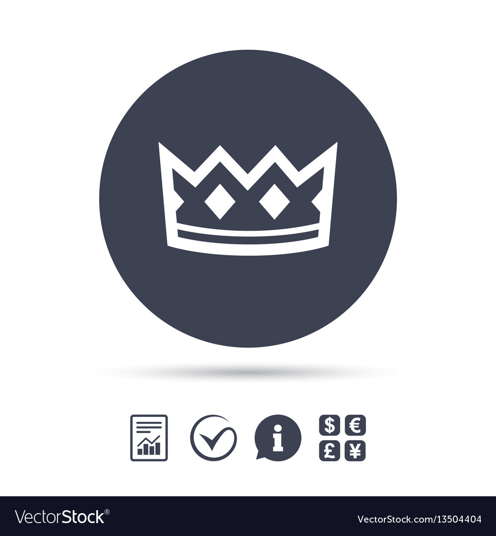 Crown Sign Icon King Hat Symbol Royalty Free Vector Image
