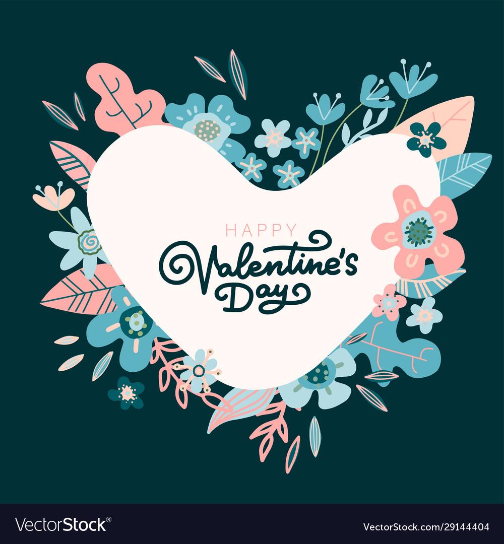 Floral design concept for valentines day flower
