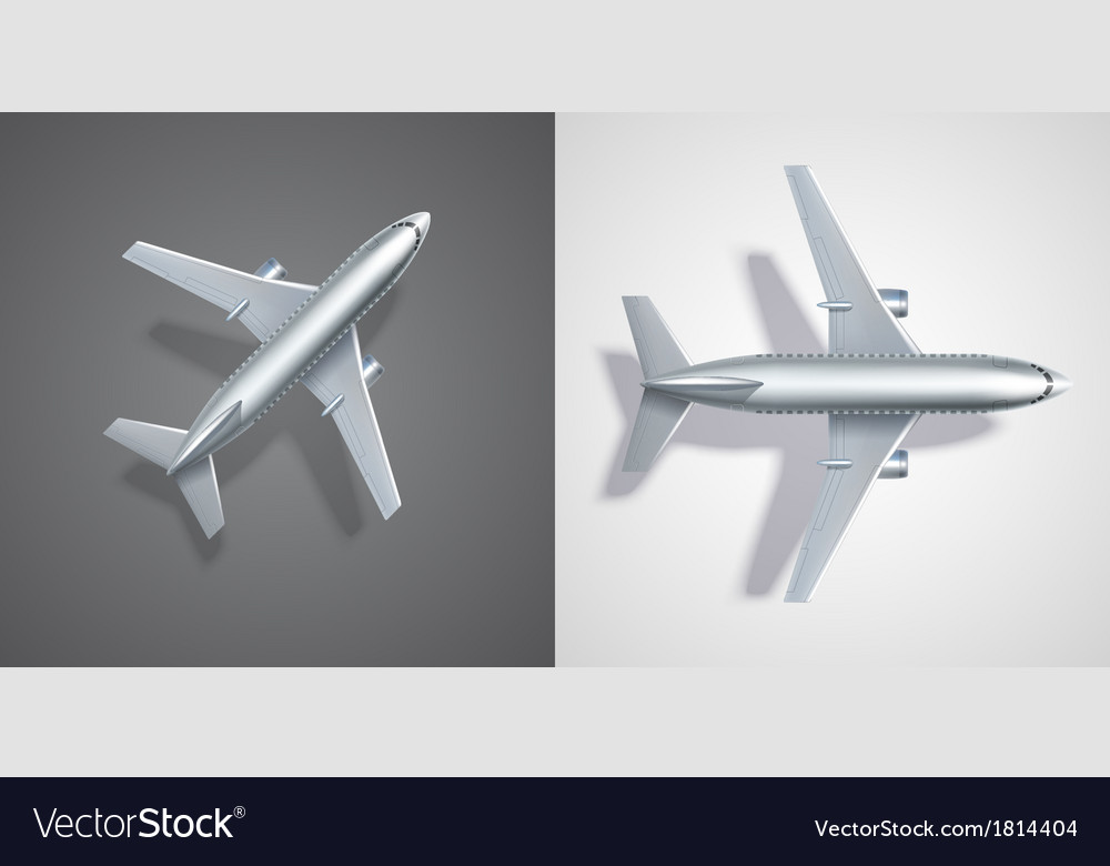 Flying airplane icons on black and white