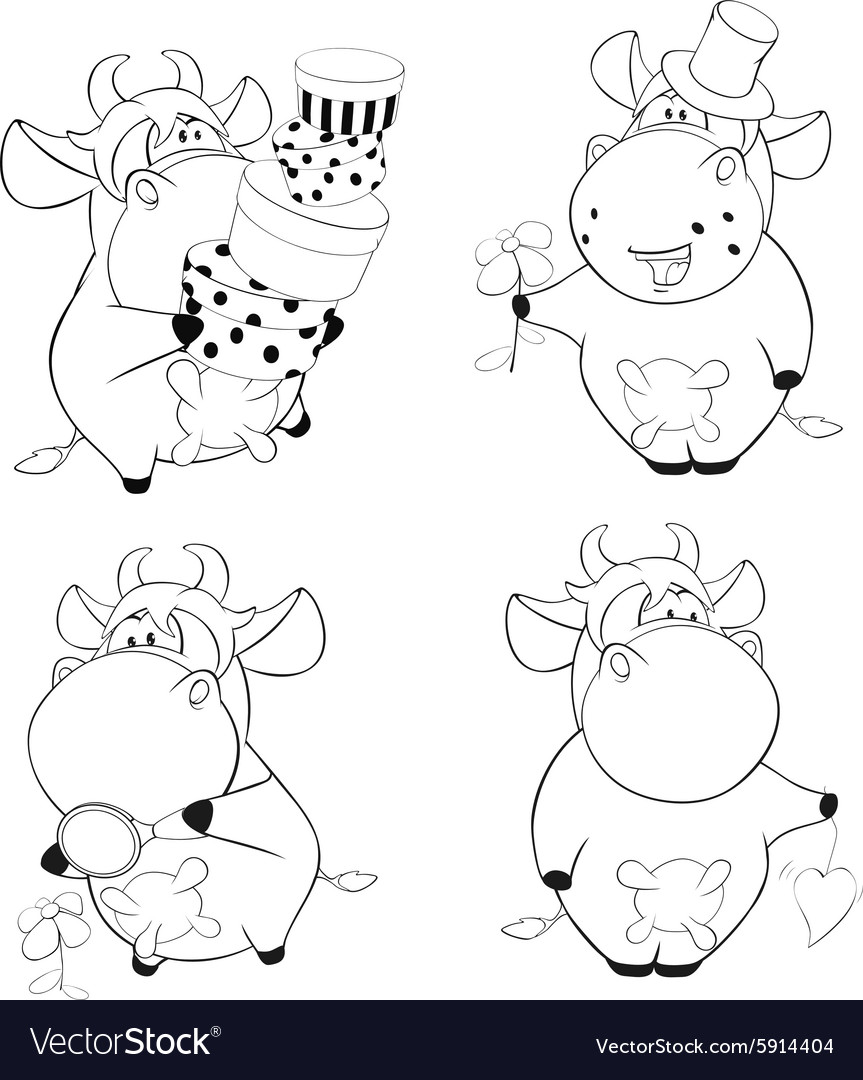 Coloring Book Cows - Worksheet & Coloring Pages