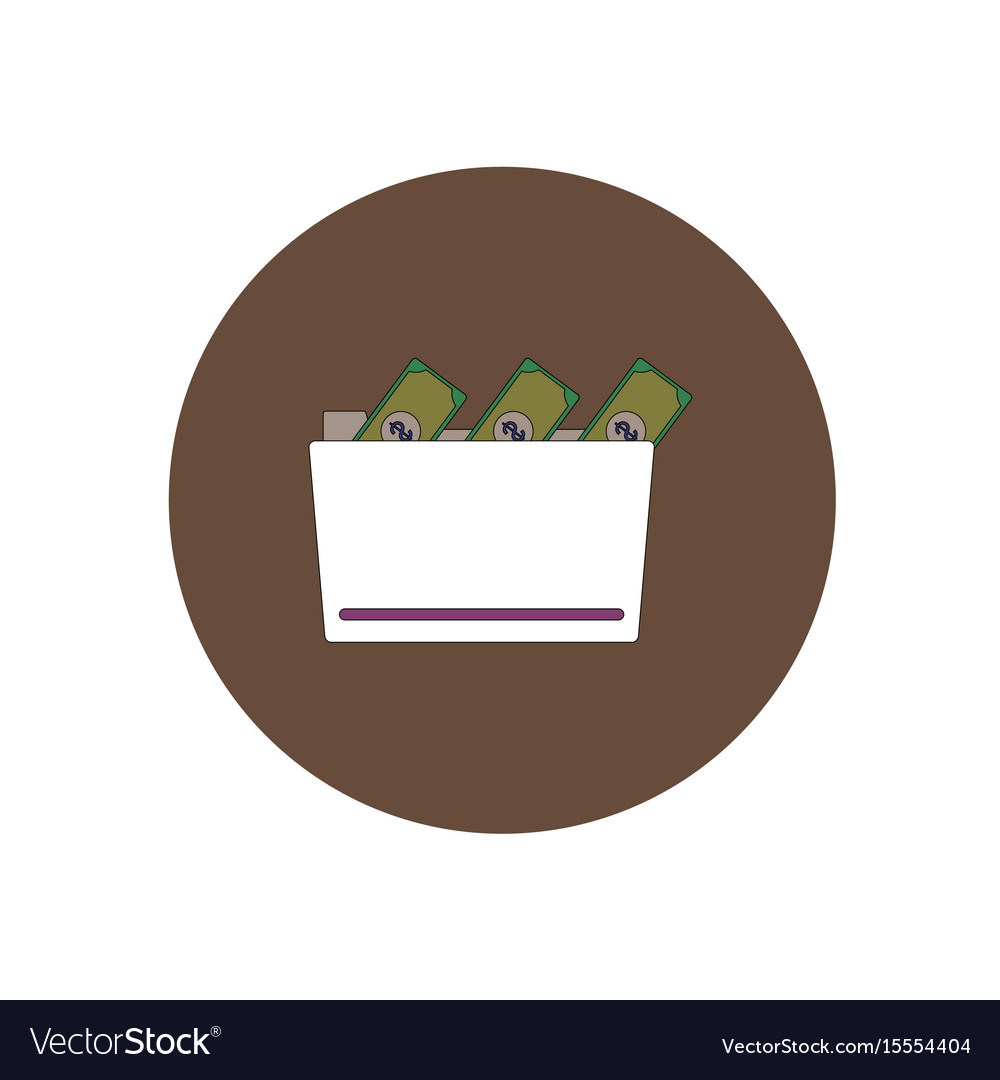 In flat design of money in the
