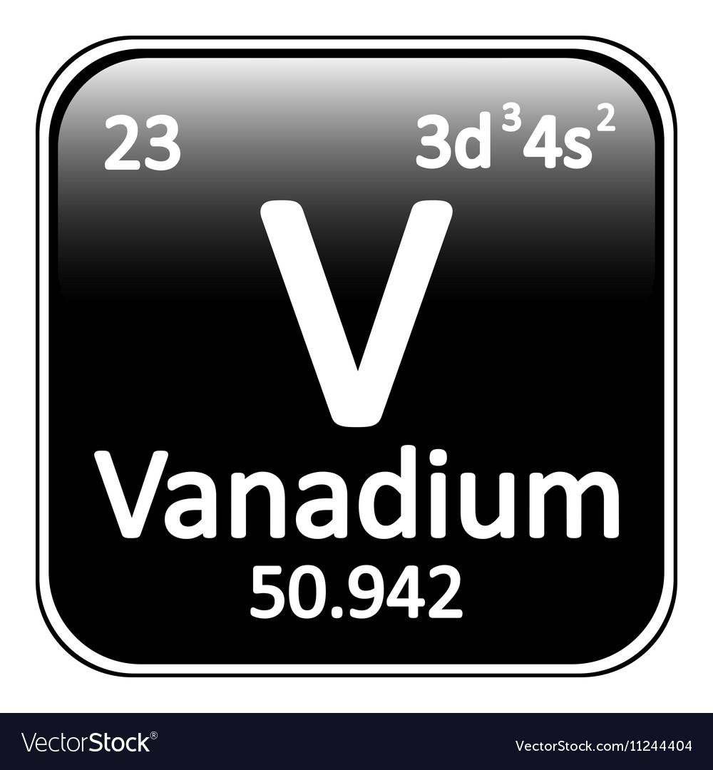 Periodic table element vanadium icon