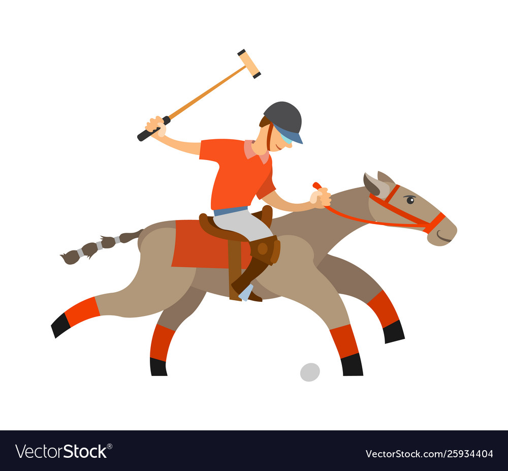 Polo player accuracy and precision playing man