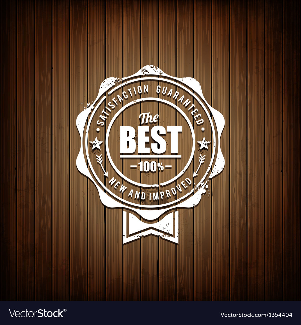 Premium seal wooden background