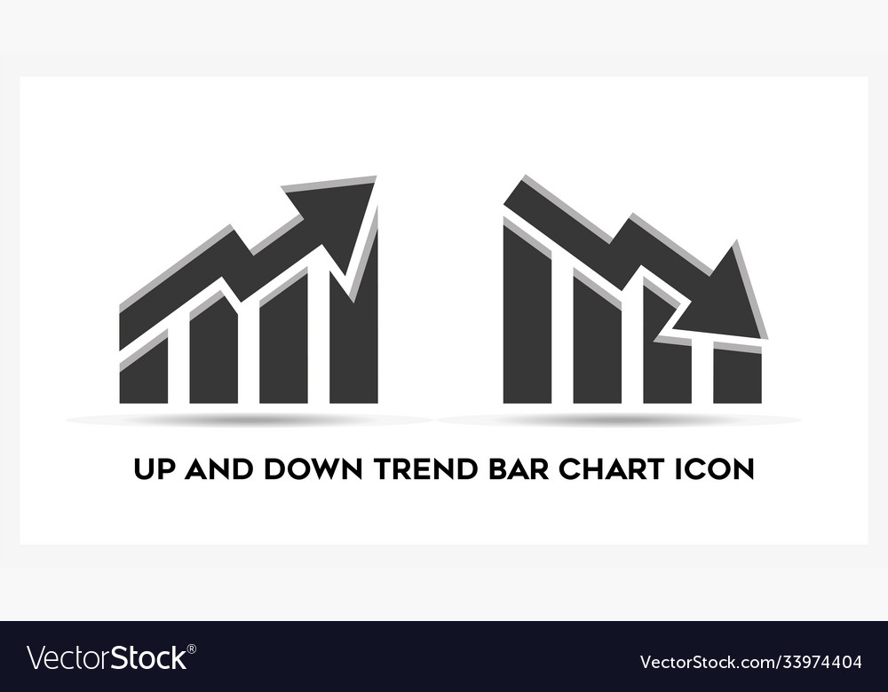Up and down trend bar chart business analytic
