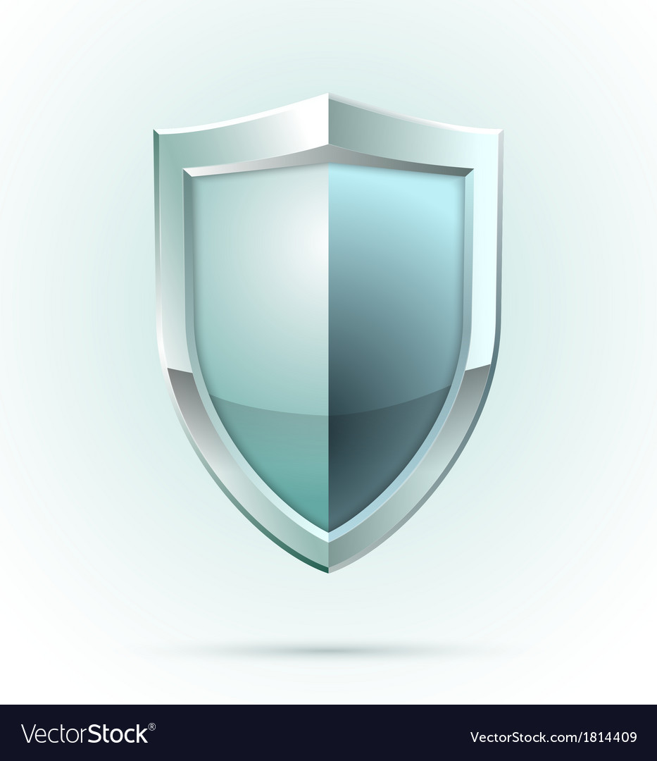 Blank shield security icon
