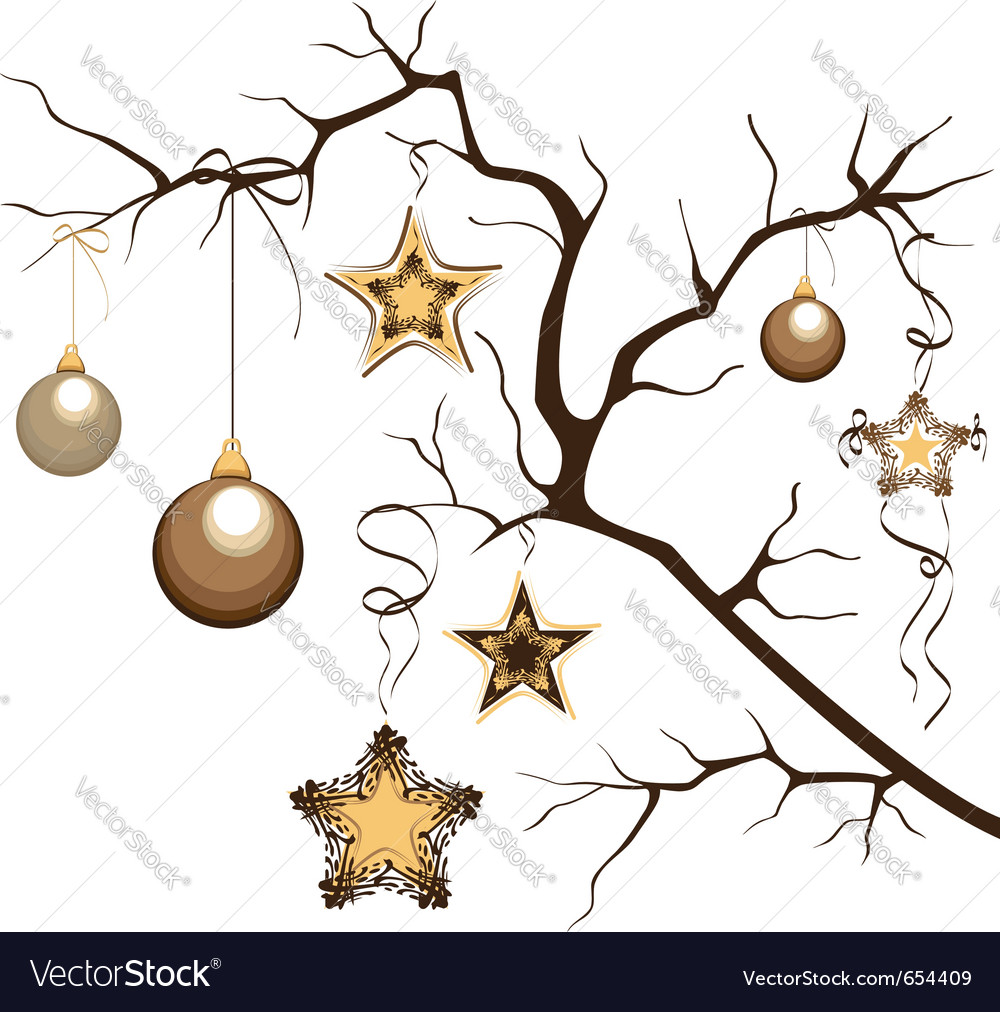 Branch with balloons and stars