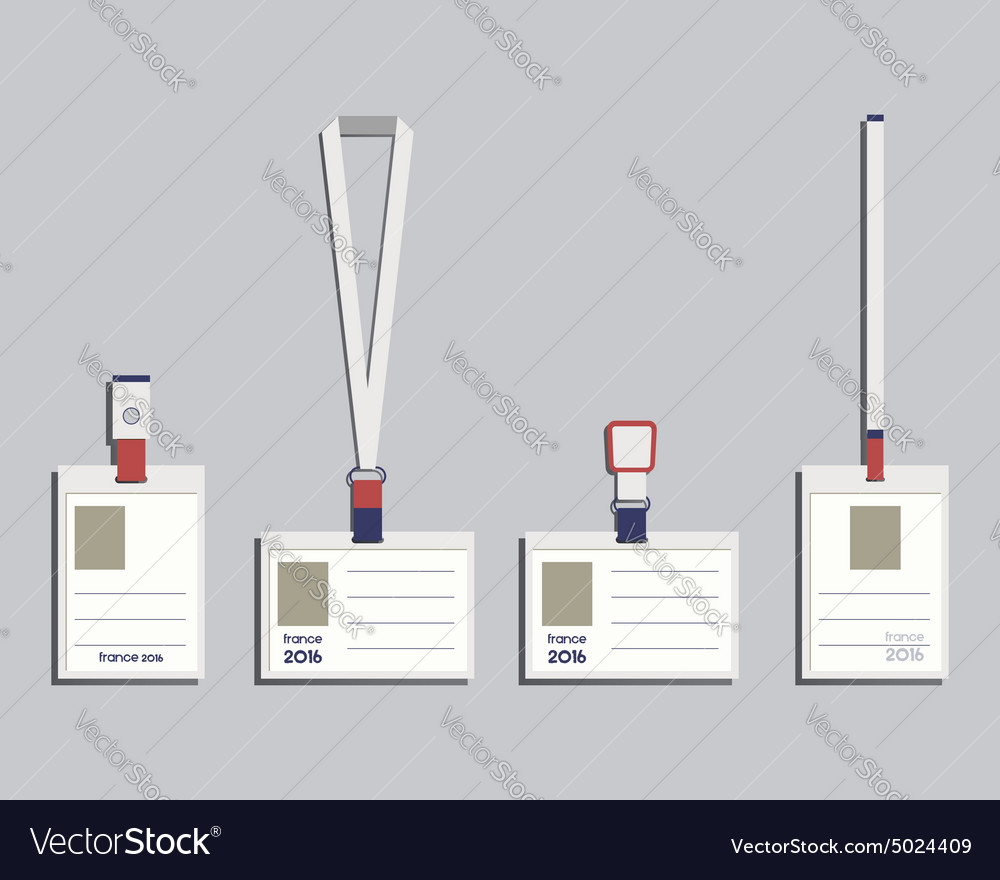 Brand identity elements - Lanyard name tag holder Vector Image