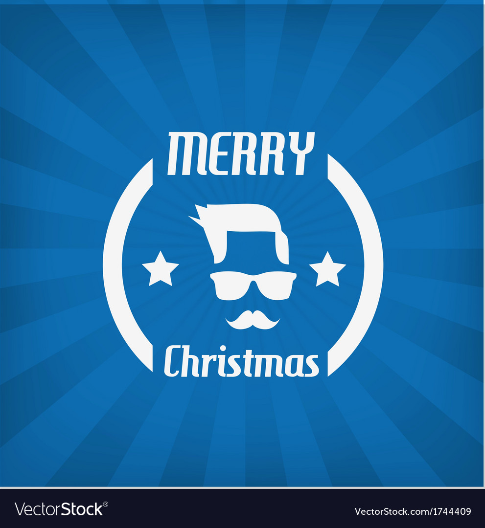 Hipster face christmas icon