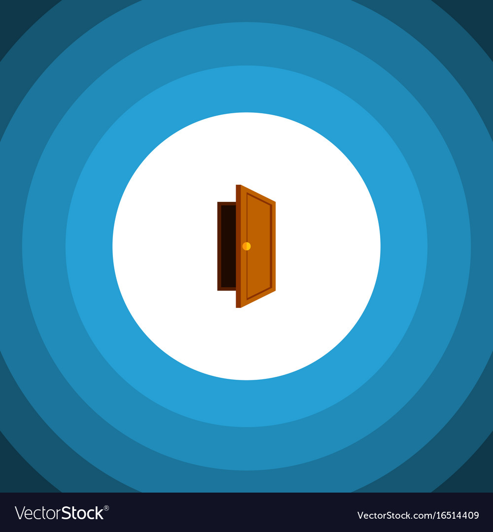 Isolated exit flat icon entry element can vector image