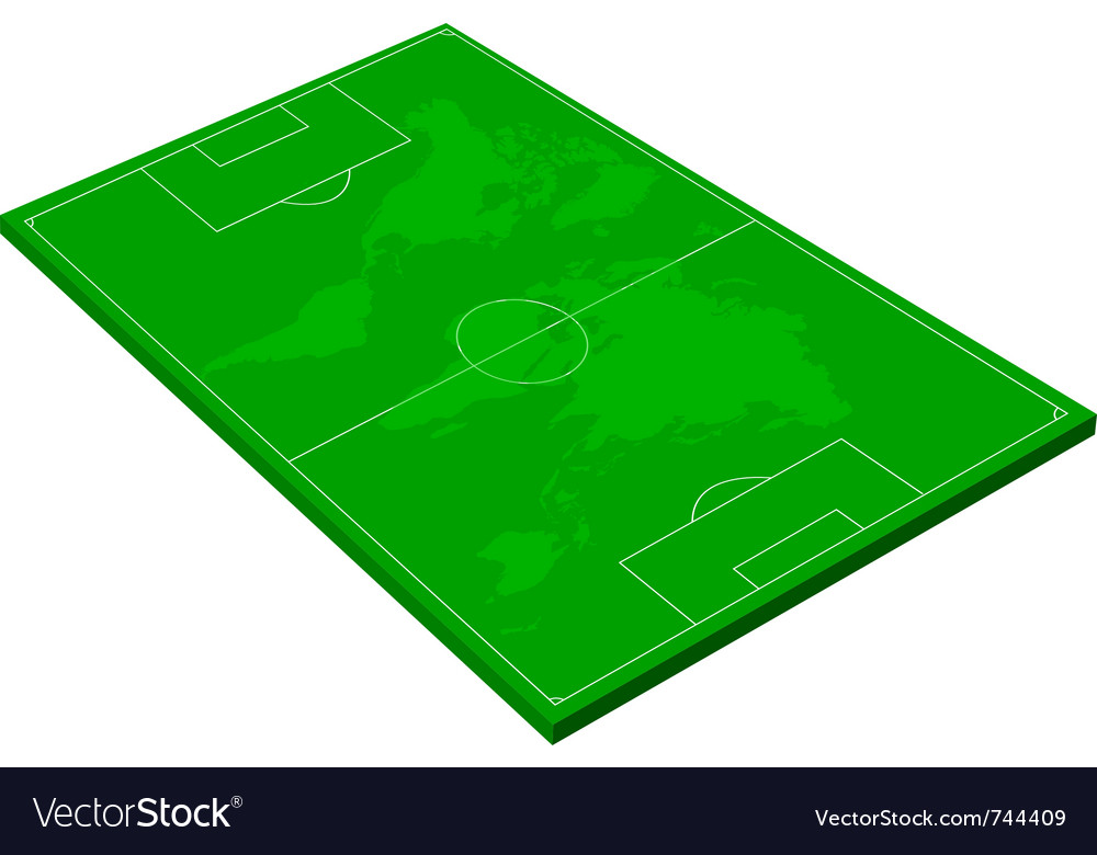 layout of a football field royalty free vector image rh vectorstock com football field vector free download football field vector art free