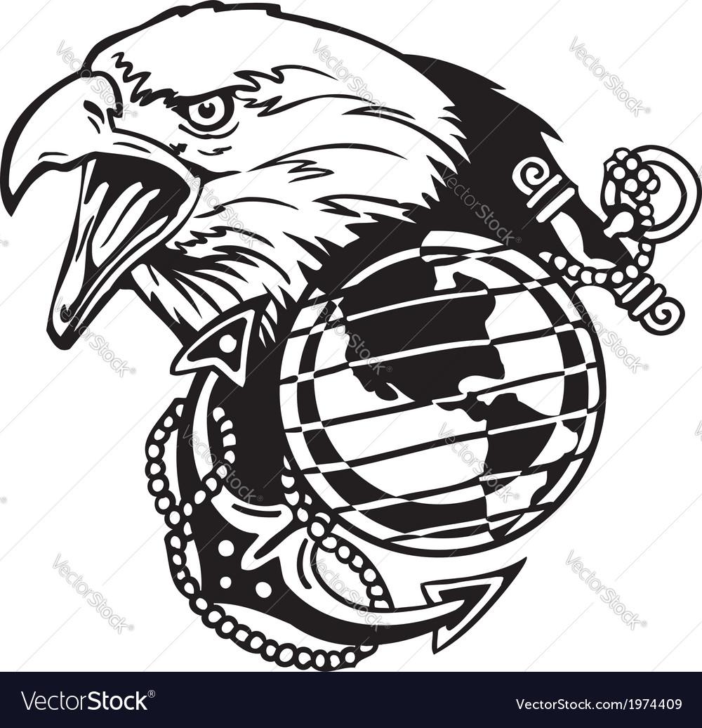 Military Design - vinyl-ready vector image