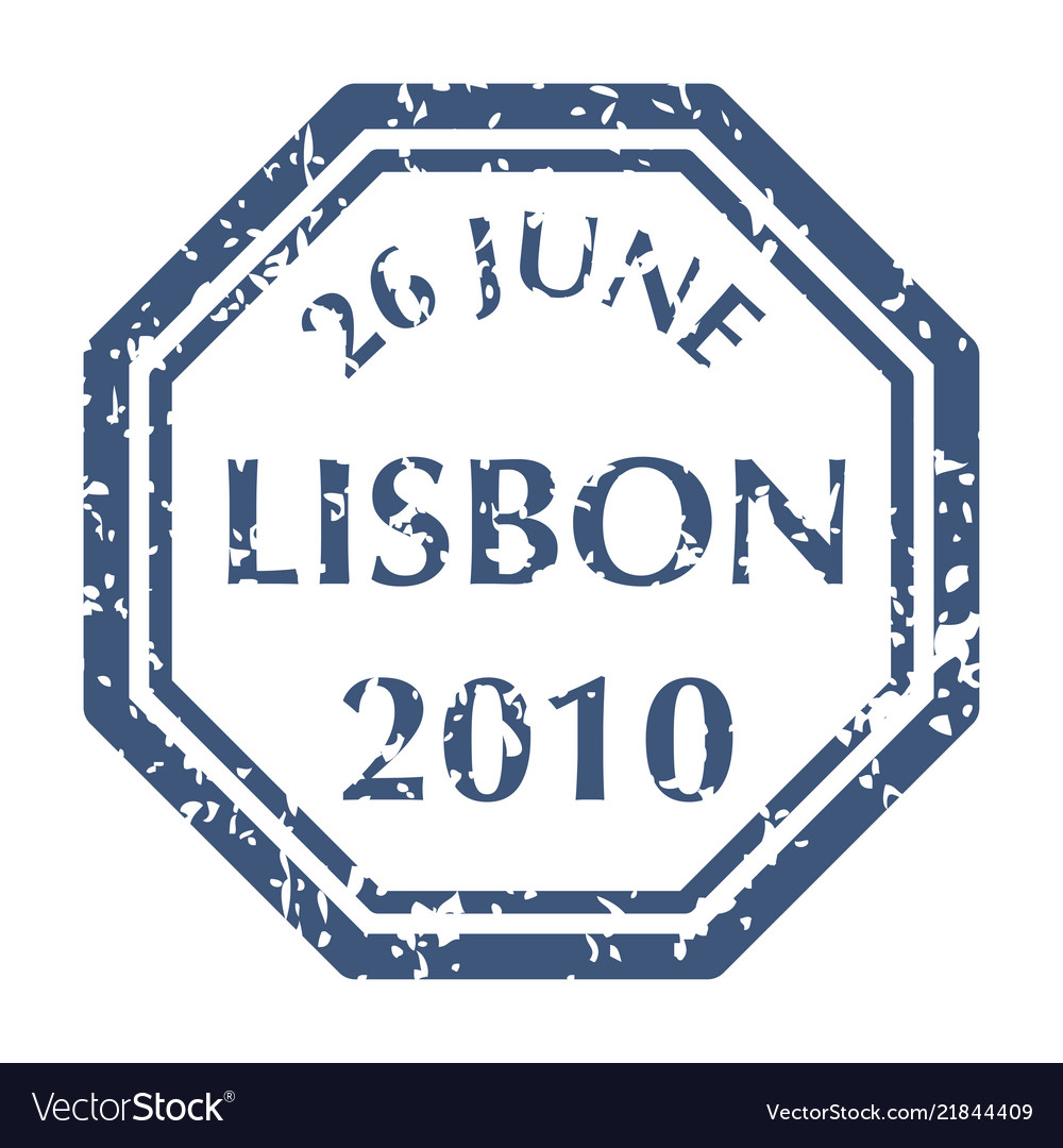 Postal stamp from lisbon