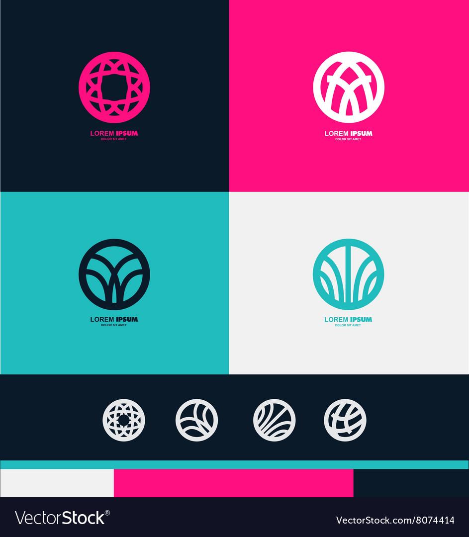 Abstract circle sign logo icon