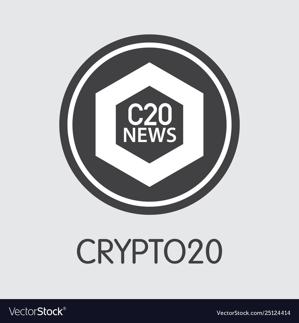 C20 - crypto20 the logo crypto coins or market