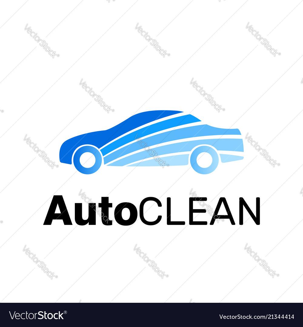 Car clean logo brand identity carwash icon