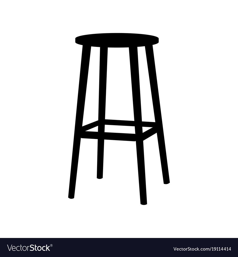 Enjoyable Chair Symbol On White Backgroundbar Stool Icon Alphanode Cool Chair Designs And Ideas Alphanodeonline
