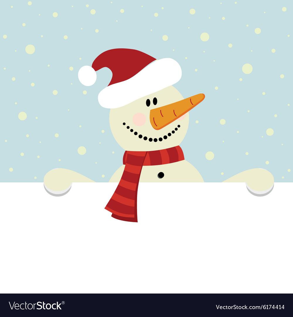 Christmas happy snowman
