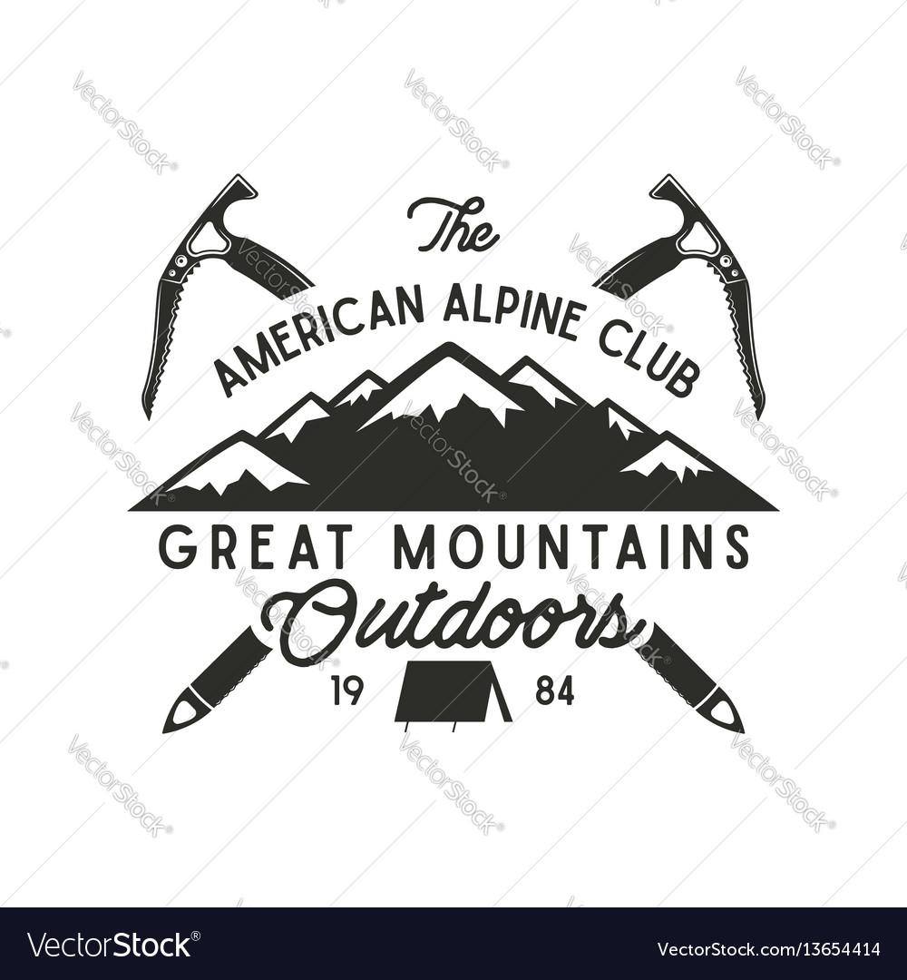 Climbing t-shirt design hand drawn vintage alpine