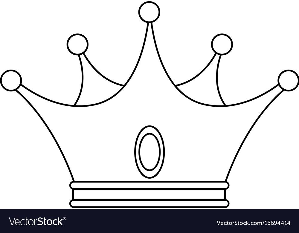 King Crown Luxury Symbol Royalty Free Vector Image