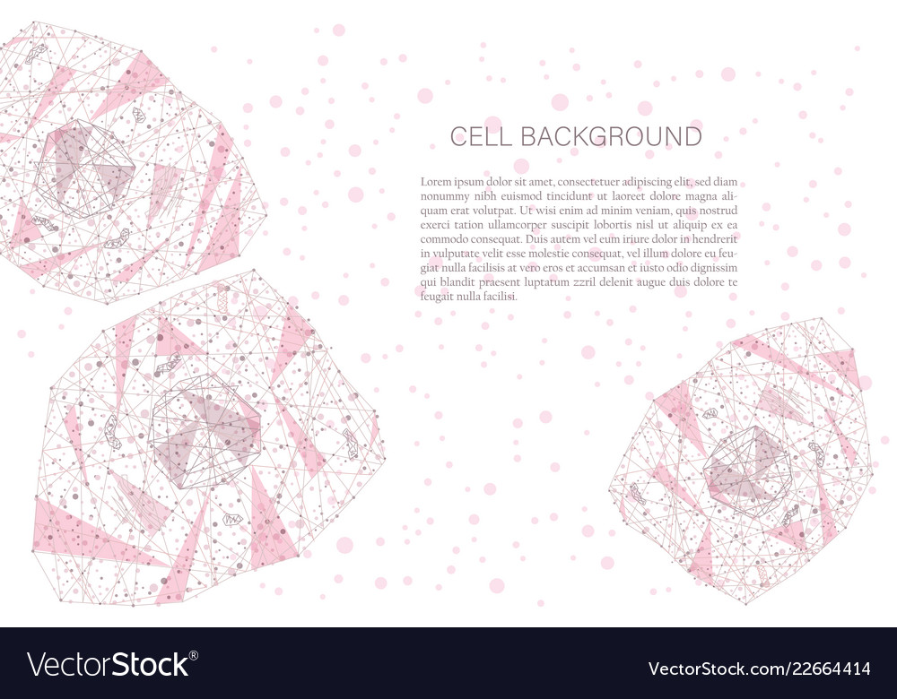 Polygonal cell background