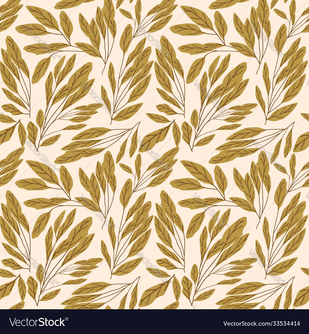 Seamless pattern with image leaves
