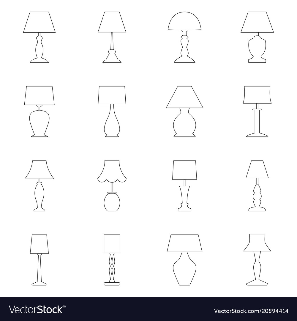 Set of contours of lamps