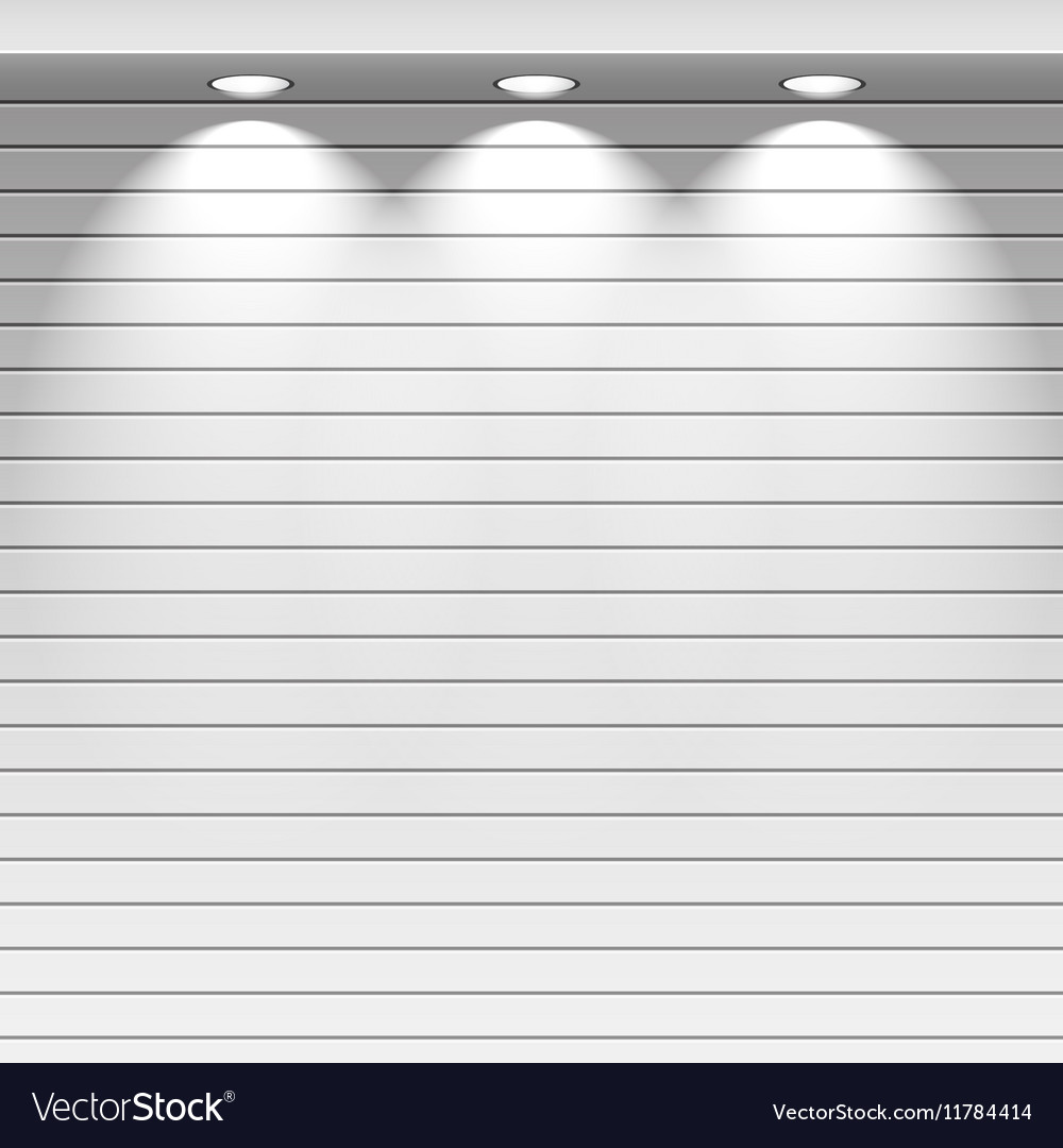 Spot lights showcas vector image