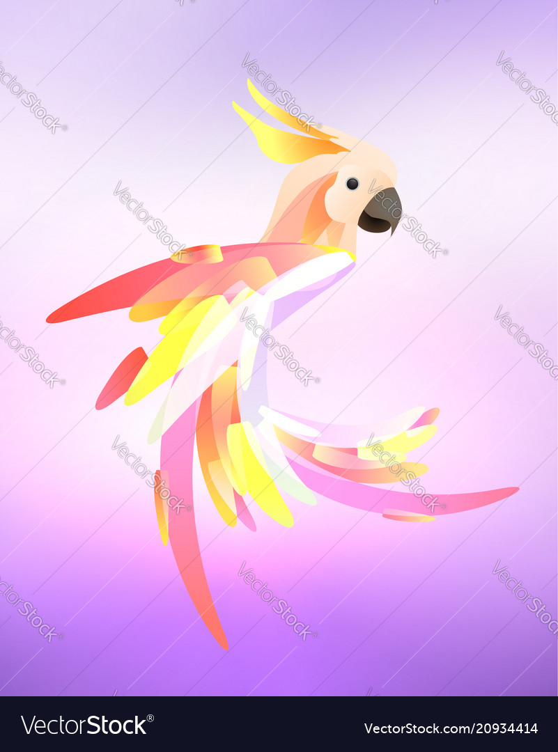 Stylized of a parrot cockatoo with a