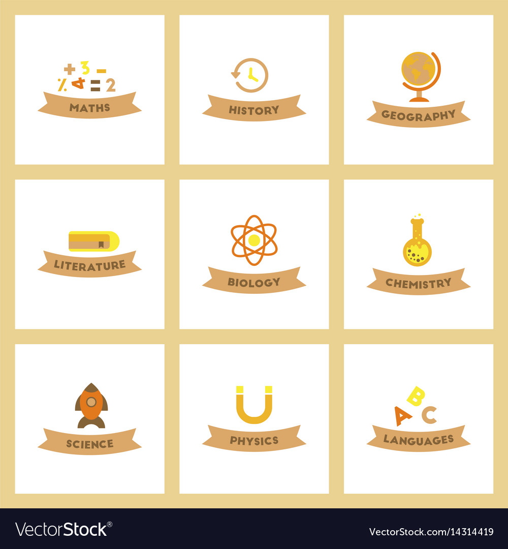 Assembly flat icons rocket geography physics
