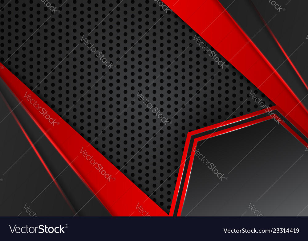 Black and red abstract geometric business