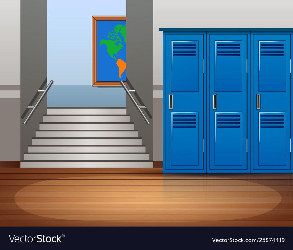 Cartoon Empty School Interior Background Vector Image