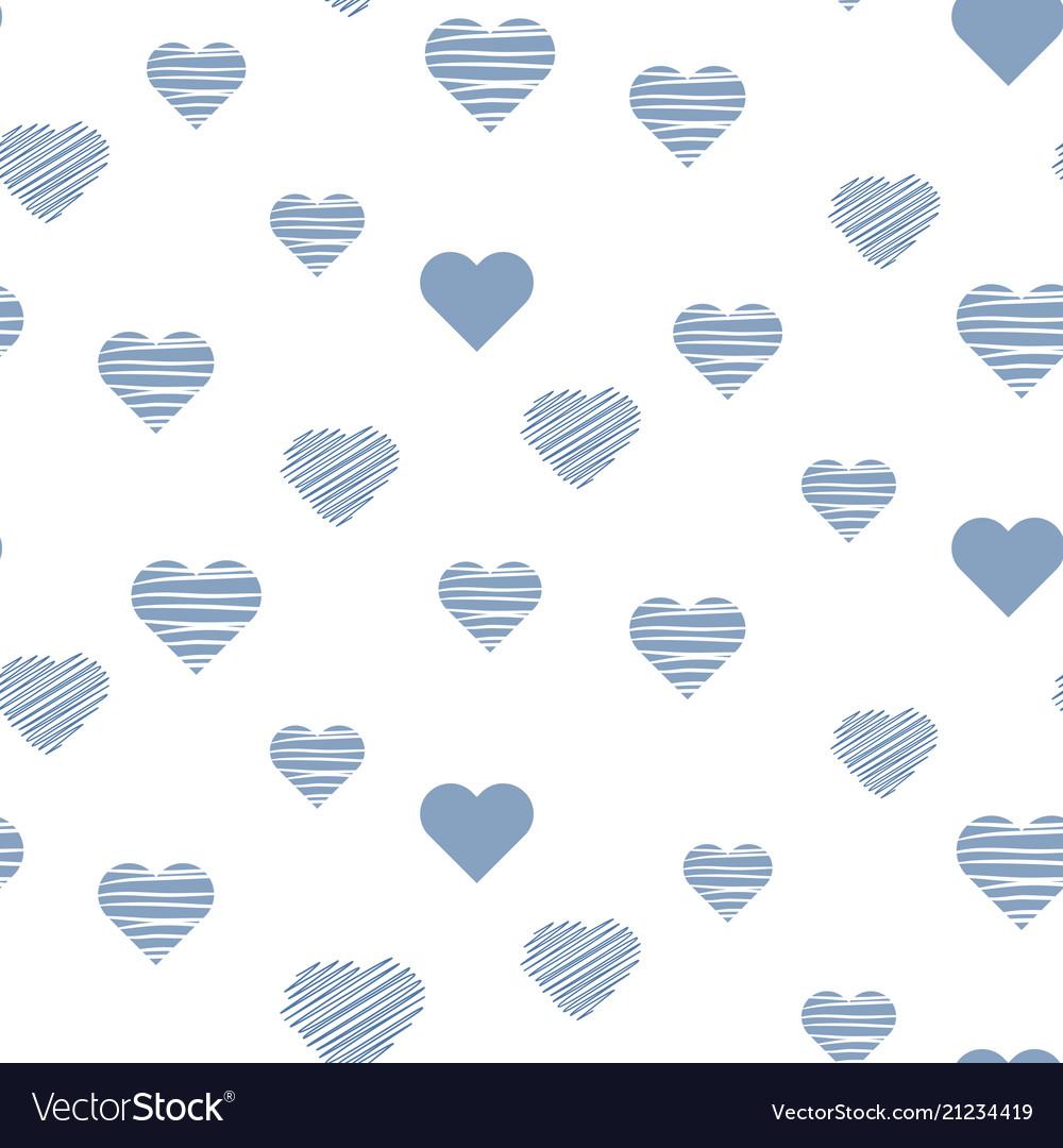 Heart bacute seamless pattern