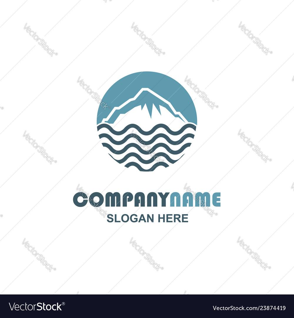 Mountain and sea icon