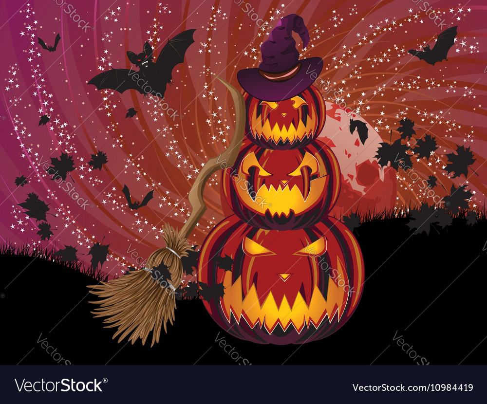 Pumpkins and Red Moon7