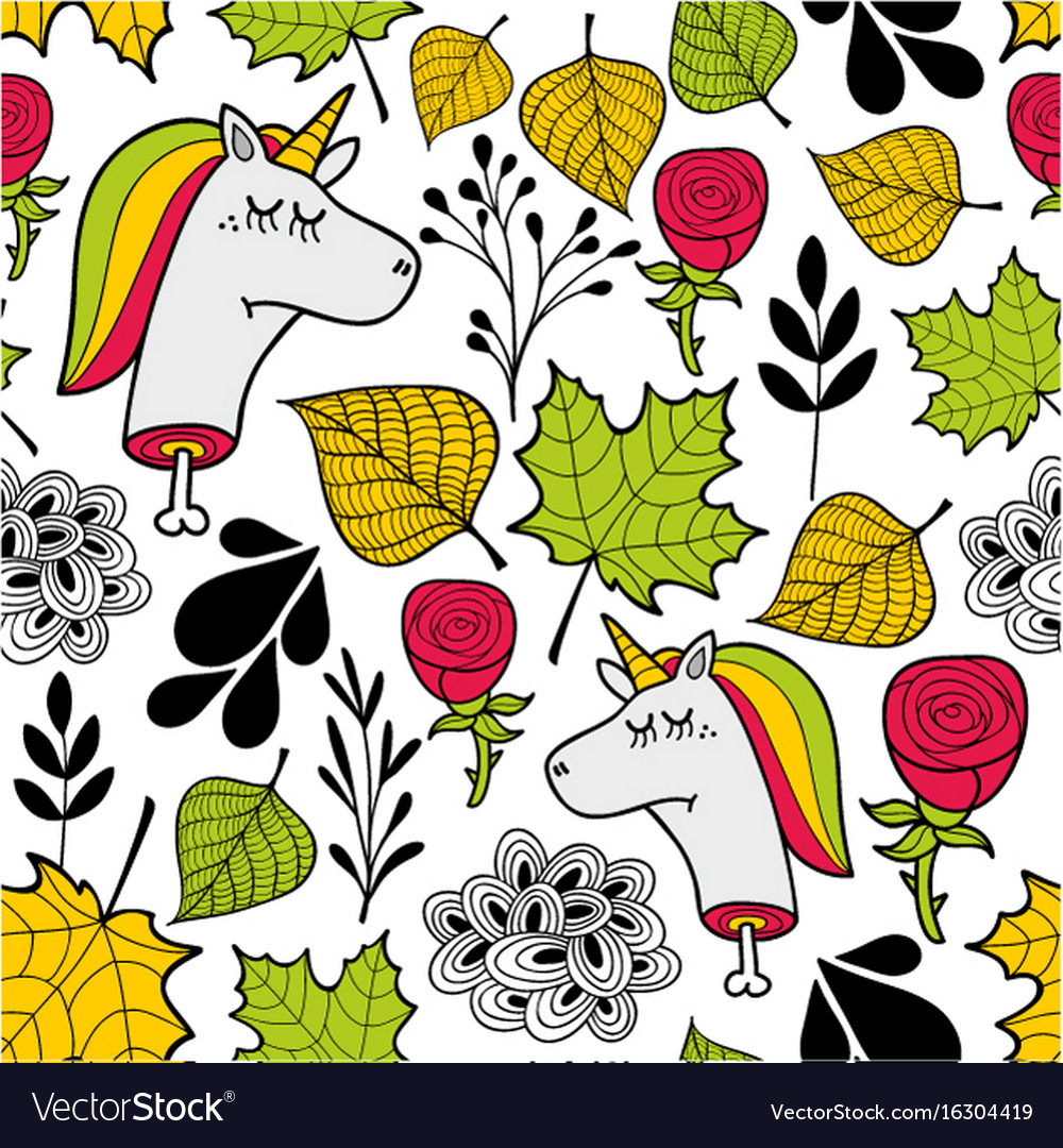 Seamless sad pattern in autumn colors