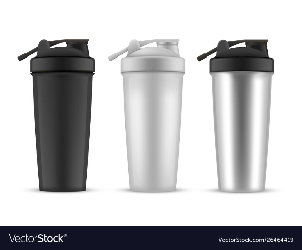 Shaker realistic style set cup or container