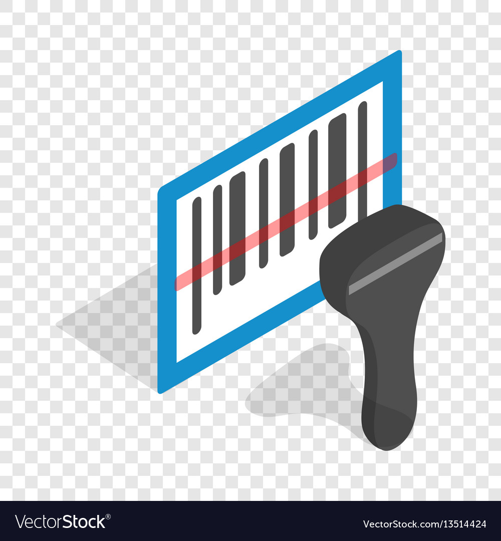 Barcode scanner isometric icon