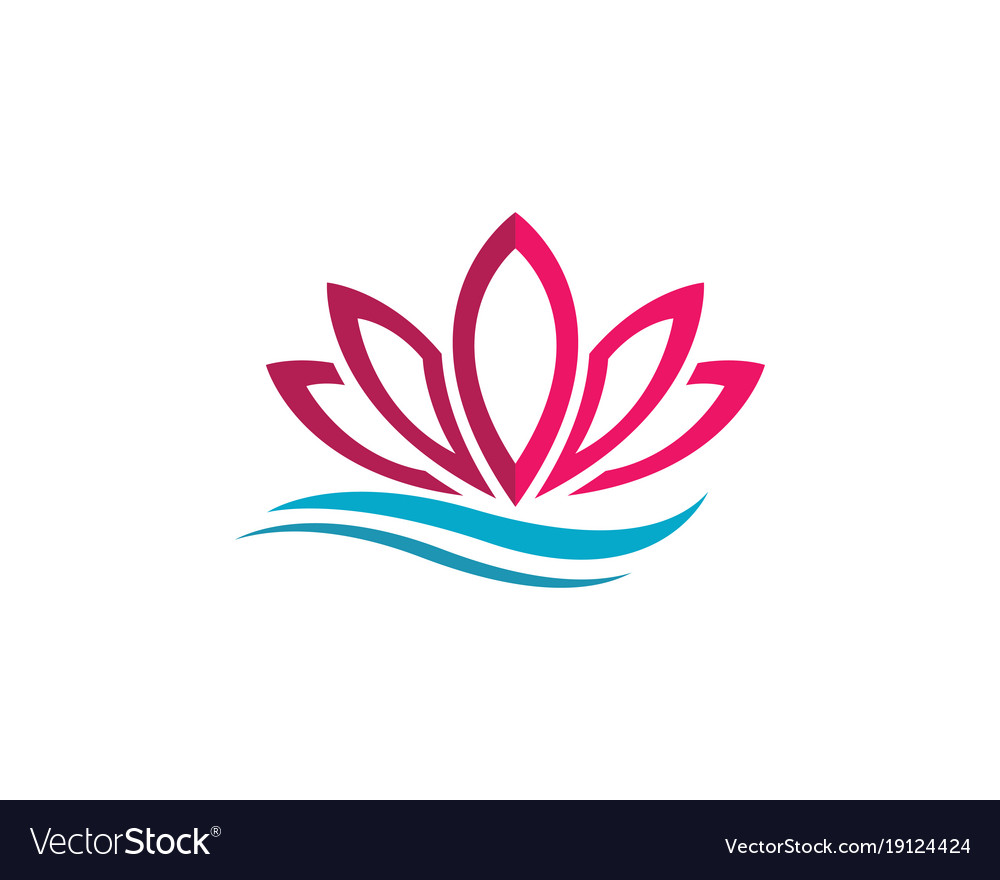 Beauty flowers design logo vector image