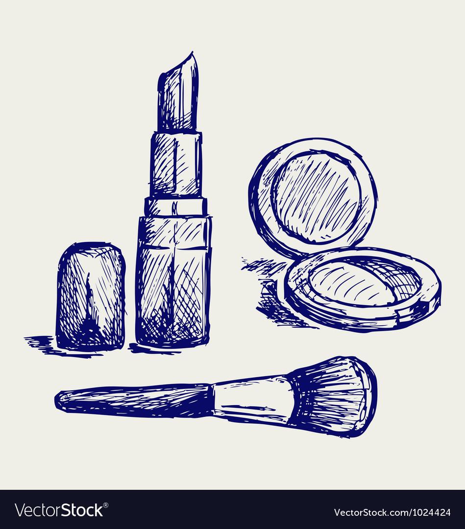 Cosmetics set for fashion design vector art download for Fashion designer craft sets