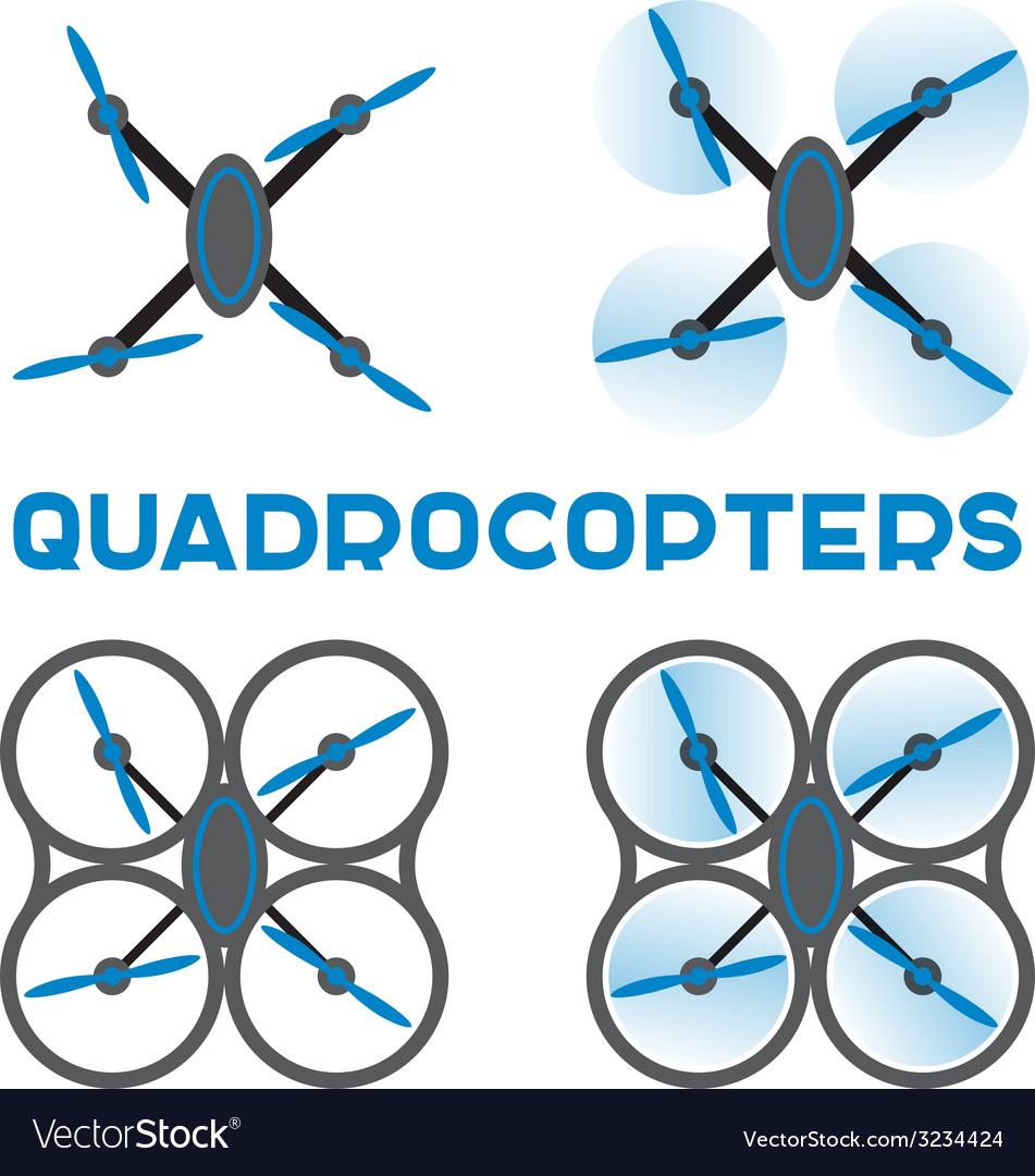 Flat quadrocopters icons