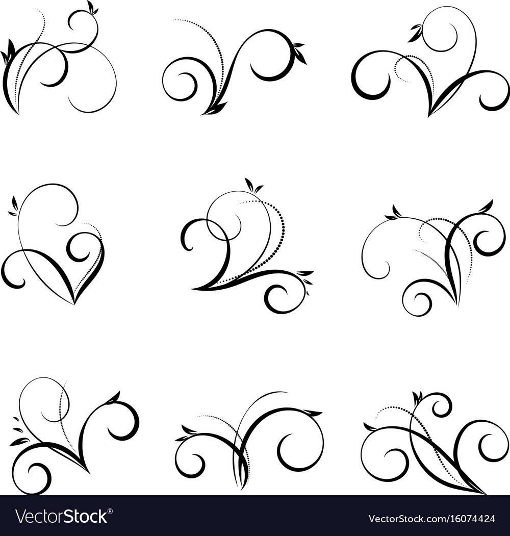 Flourishes and swirls collection vector image