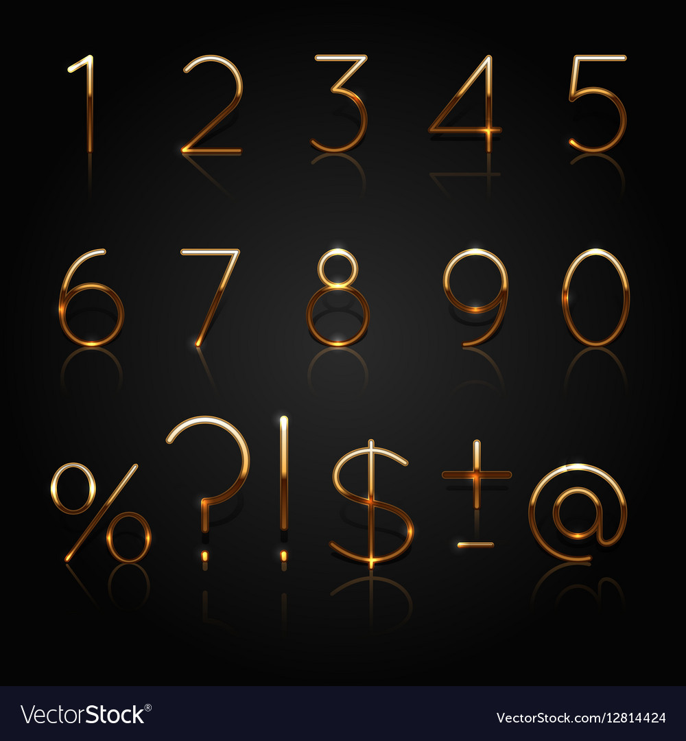 Golden numbers Set of golden numbers and