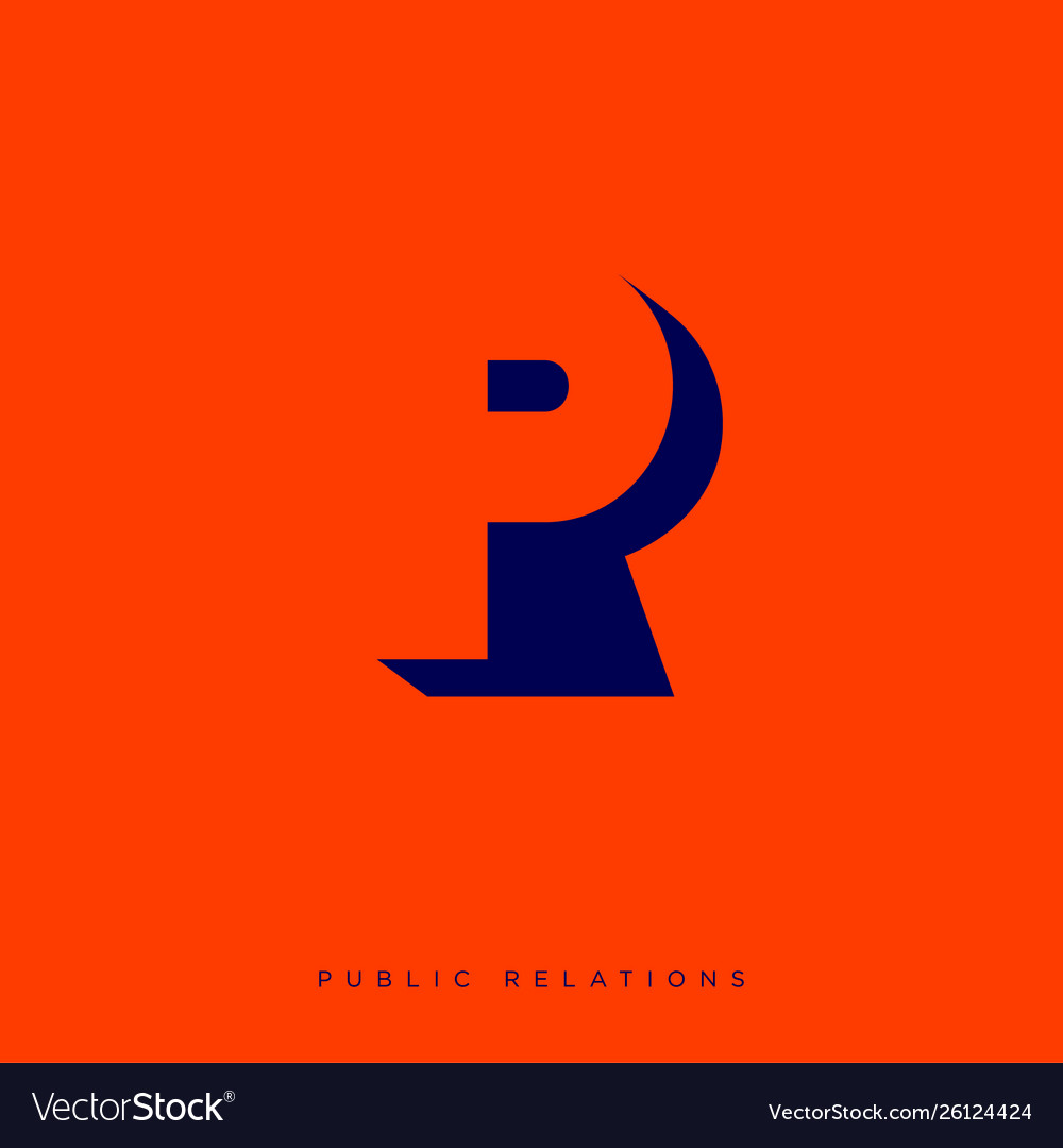 Pr logo p and r letters on red background