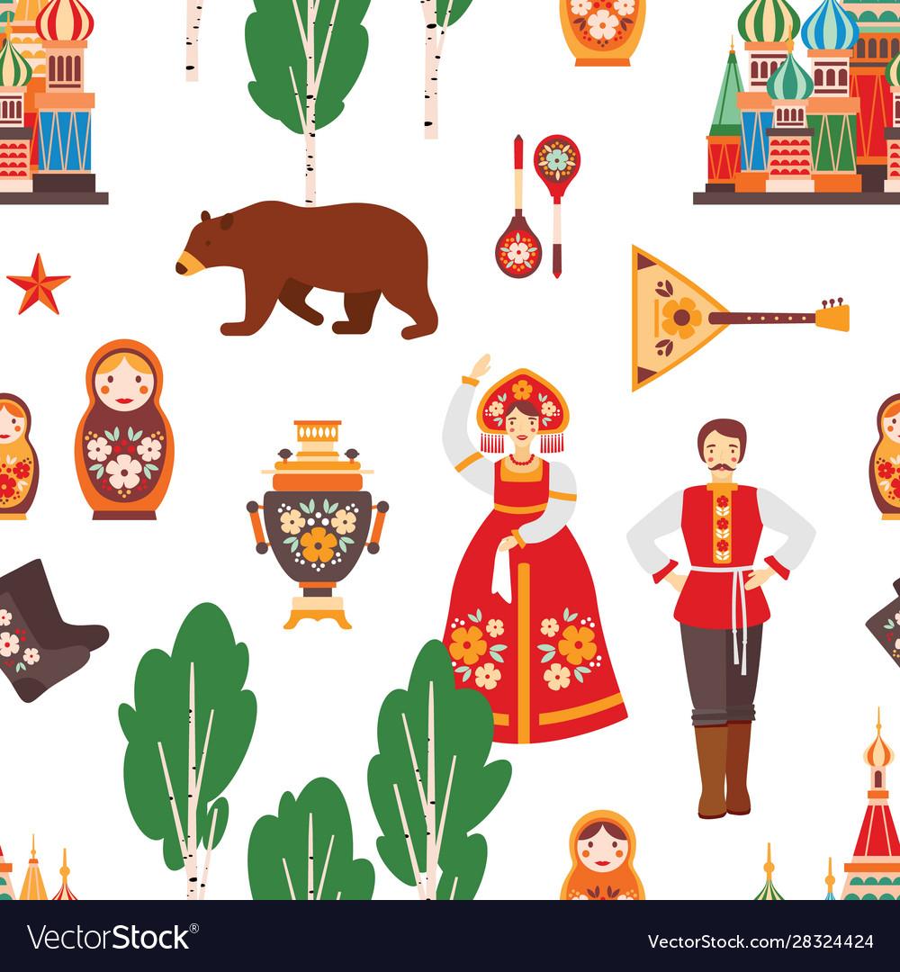 Russian folk seamless pattern
