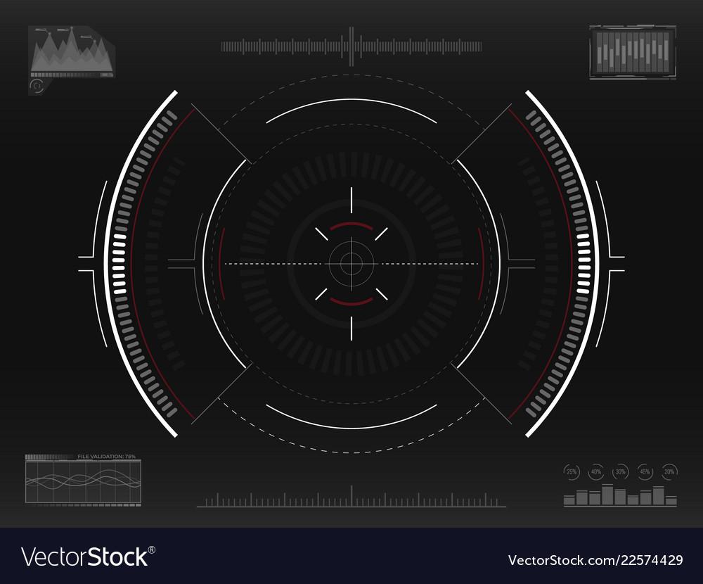 Aim system futuristic aiming concept modern