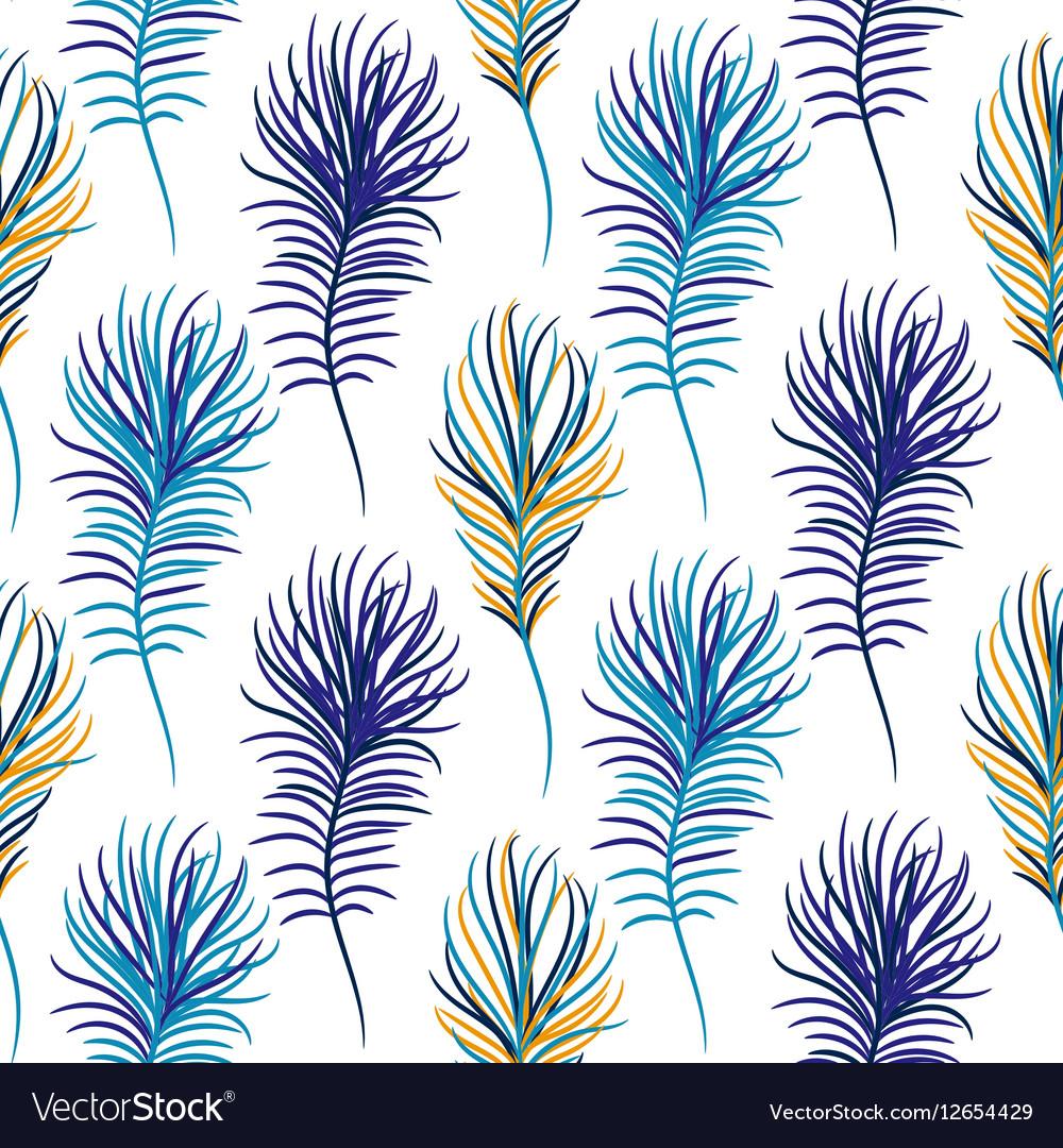 Bird blue seamless pattern