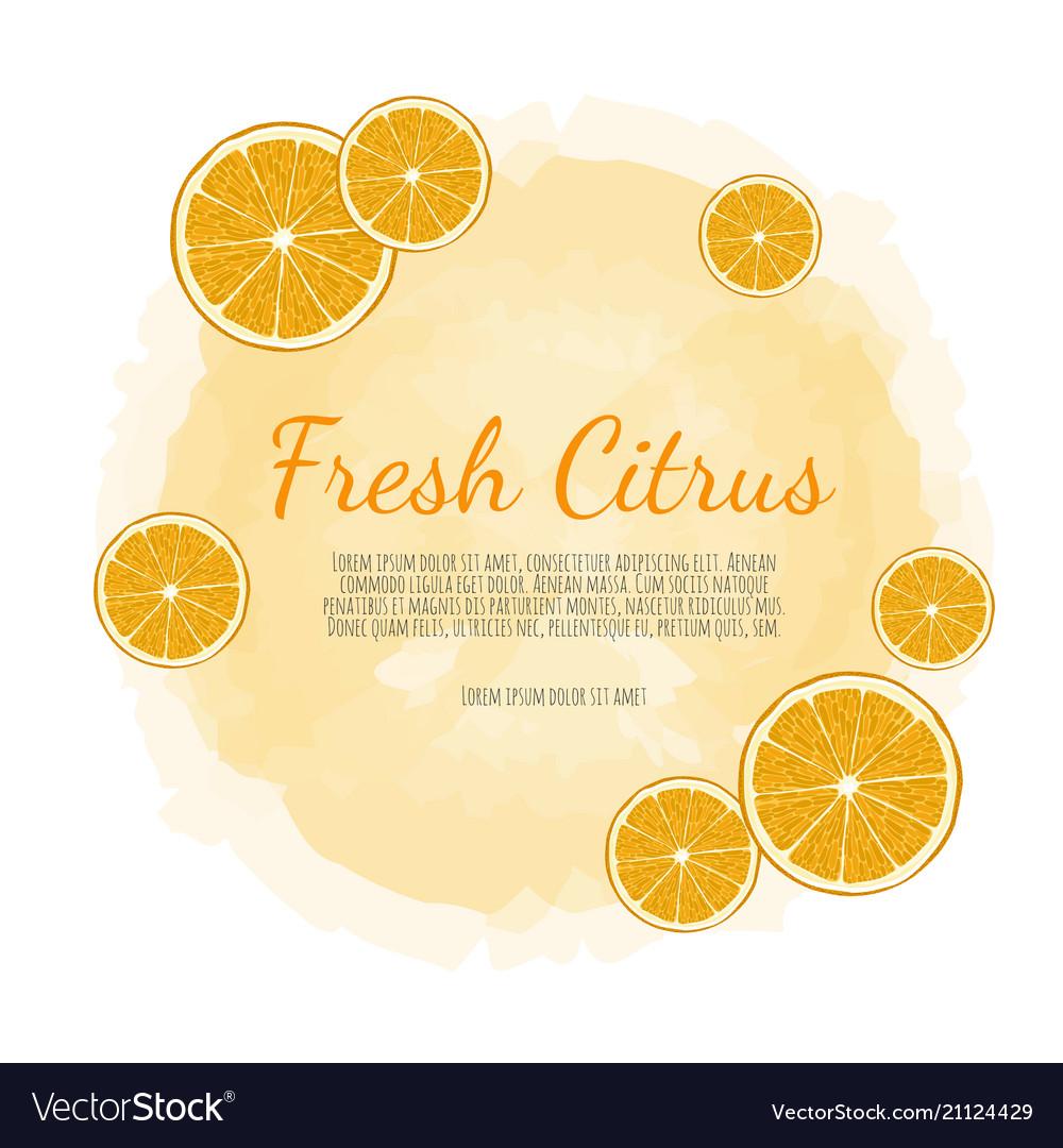 Citrus banners design for juice tea ice