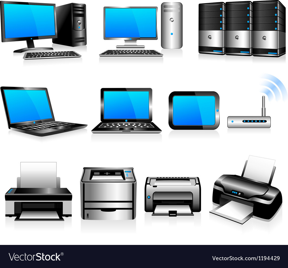 Computers Printers Technology Electronics vector image